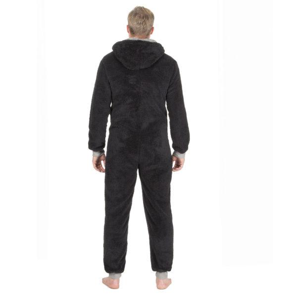 Mens Cargo Bay Onezee Nightwear Sherpa Fleece Hooded All In One Collection