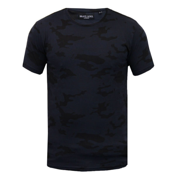 Men's Brave Soul 100% Cotton Camo Disguise T-Shirt Military Camouflage Tee