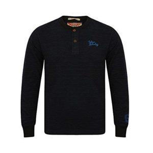 Mens Tokyo Laundry Hazen Long Sleeve T-shirt Crew Neck Casual Cotton Top