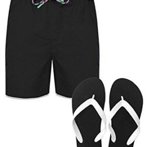 Mens Tokyo Laundry Summer Swim Shorts Board Shorts With Free Flip Flops