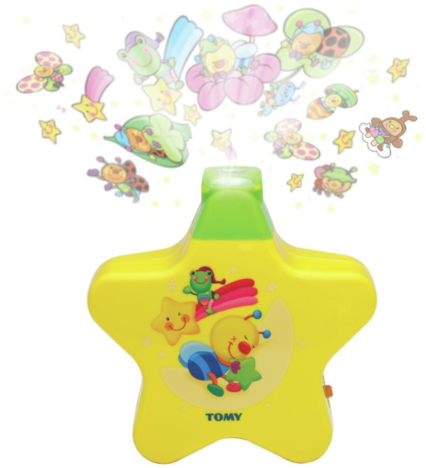 Starlight Dreamshow Cot Nightlight with Lullabies Yellow TOMY 2008 First Years