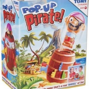 TOMY Pop-Up Pirate Classic Game Family Fun Barrel Eject Game