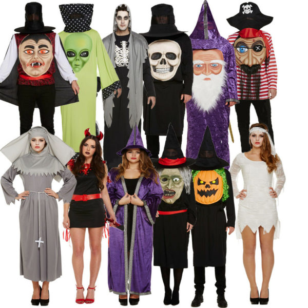 Adult Mens Ladies Halloween Party Trick Or Treat Fancy Dress Costumes