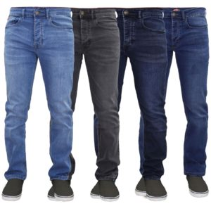 Men Skinny Slim Fit Stretch Denim Jeans Trouser Button Fly Life & Glory 36 38 40