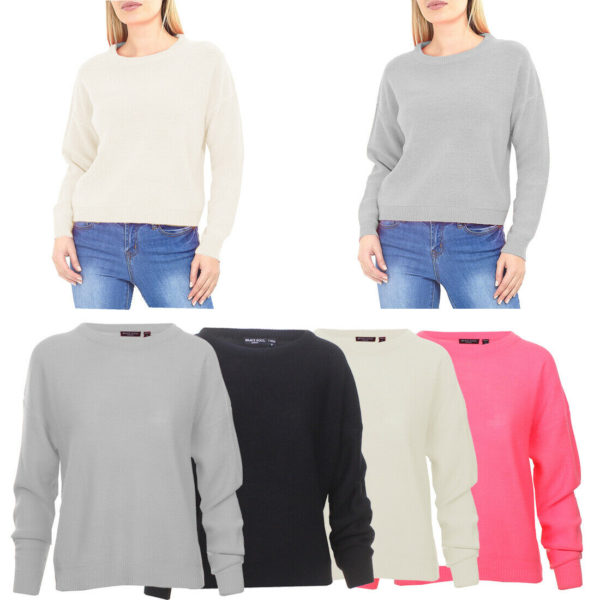 Ladies Crew Neck Jumper Sweater Soft Light Knit New Season Top Brave Soul XS-L