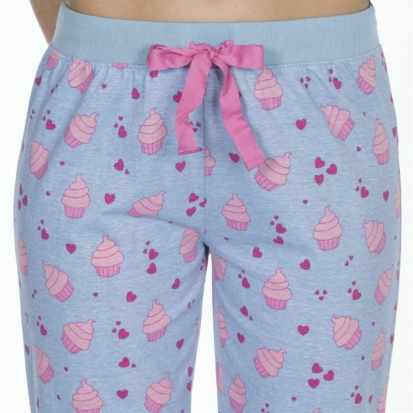 Ladies Forever Dreaming Cotton Rich Pjs Pyjama Sets Pug Cake Prints
