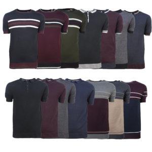 Men's Polo Shirt Crew Neck Light Knit Top Casual Sports Wear Souls Star