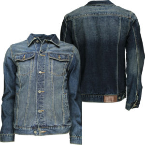 Soulstar Mens Designer Denim Vintage Jacket Denim Wash Jacket