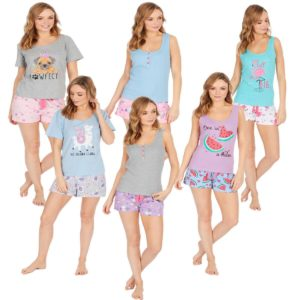 Ladies Forever Dreaming Cotton Rich Pjs Pyjama Sets Photo Print