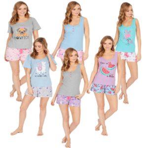 Ladies Forever Dreaming Cotton Rich Pjs Pyjama Sets Photo Print