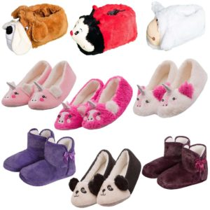 LADIES FOREVER DREAMING SUPER WARM ANIMAL NOVELTY SLIPPERS SELECTION