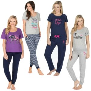 Ladies Forever Dreaming Pyjama Cotton Mix Nightwear Loungewear Pjs