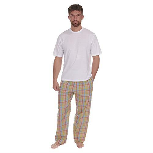 Mens Cargo Bay Pj Pyjama Set Short Sleeve Cotton Blend Loungwear