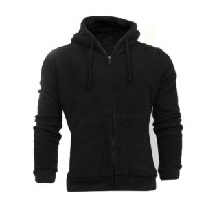 Mens Brave Soul Zipped Hooded Borg Fleece Hoody Jacket