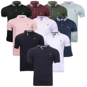 Mens Brave Soul Glover Goldin Khalifa Polo T-Shirt Casual Top Golf Top