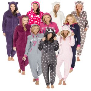Ladies Novelty Fleece Snuggle All In One By Onezee Forever Dreaming