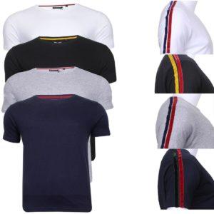 Men's Brave Soul Short Sleeve Cotton Rich Crew Neck Casual Top