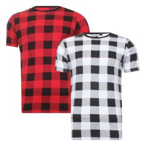 Mens Brave Soul 'Kandil' 'Macoun' 'Reinette' 'Zestar' Checked T-shirts