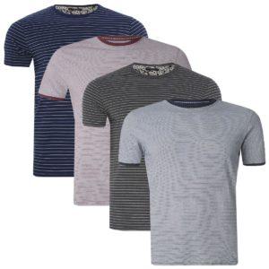 Mens Brave Soul 'Springs' 'Gandalph' Stripe T Shirt Crew Neck Summer Top