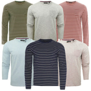 MENS BRAVE SOUL CAINE & HOFFA CASUAL LONG SLEEVE TOP WITH CHEST POCKET 6 COLOURS
