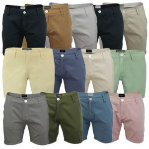 Mens Brave Soul Chino Shorts Smith Cotton Twill Shorts Summer Casual Shorts