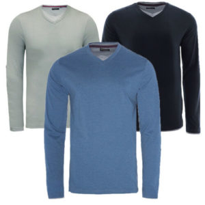 MENS BRAVE SOUL HEINRICH LONG SLEEVE COTTON LIGHT WEIGHT V NECK JUMPER