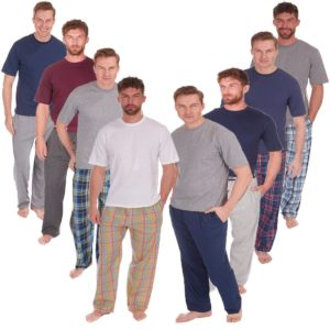 Mens Cargo Bay Pj Pyjama Set Short Sleeve Cotton Blend Loungwear