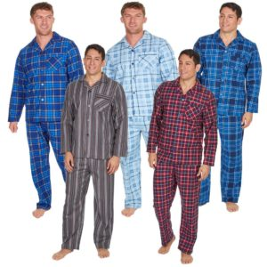 Mens Cargo Bay PJ Set Pyjamas Buttoned Front Lounge Pants Top