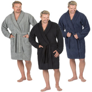 Mens Pierre Roche Luxury 100% Cotton Soft Terry Bath Spa Robe Dressing Gown
