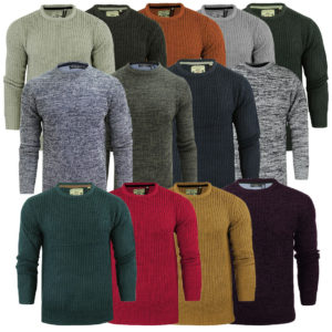 Mens Brave Soul Jumper on Heavy Mid Light Knitted Styles