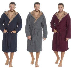 Mens Dressing Gown Spa Robe Kimono Cargo Bay