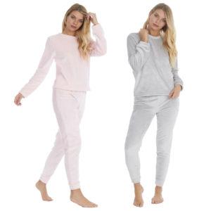 Ladies Womens  Shimmer Flannel PJ's Fleece Pajama Twosie Forever Dreaming