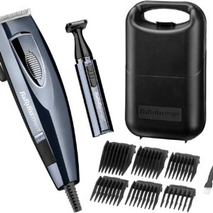 BaByliss Corded Professional Hair Clippers Hair Cutting Styling Kit Head Shaver Trimmer