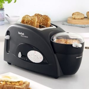 Tefal Toast n Bean Toaster and Bean Maker TT552842, Two Slice – 1200 W