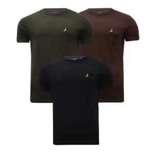 Men 3 5 Pack T-Shirt Multi Pack Tee Cotton Casual Tops Brave Soul