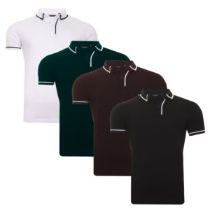 Men's Polo T-Shirt Brave Soul Cotton Collared Short Sleeve Casual Top